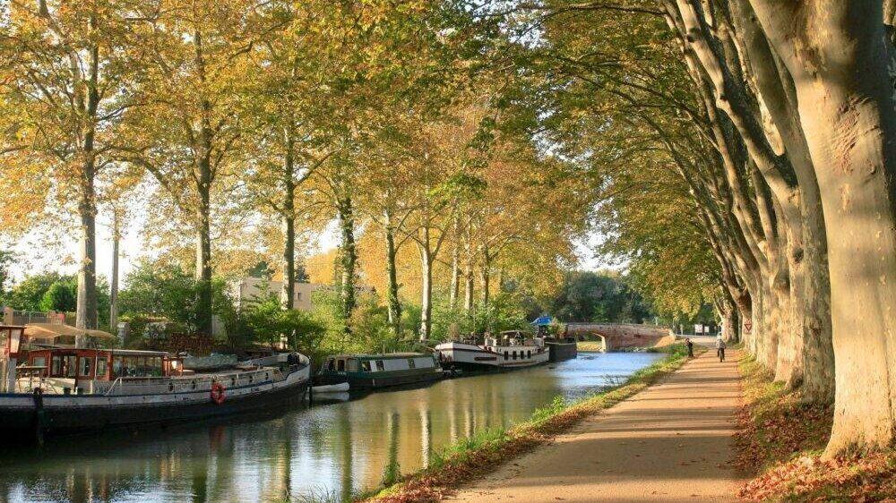 Toerisme Toulouse de roze stad Canal du Midi