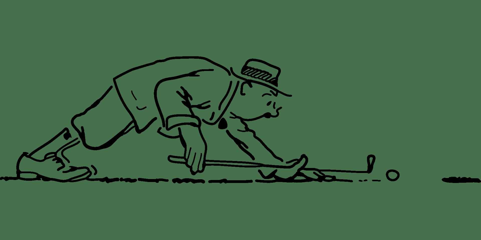 Toerisme Ariège Sport Golf Illustratie