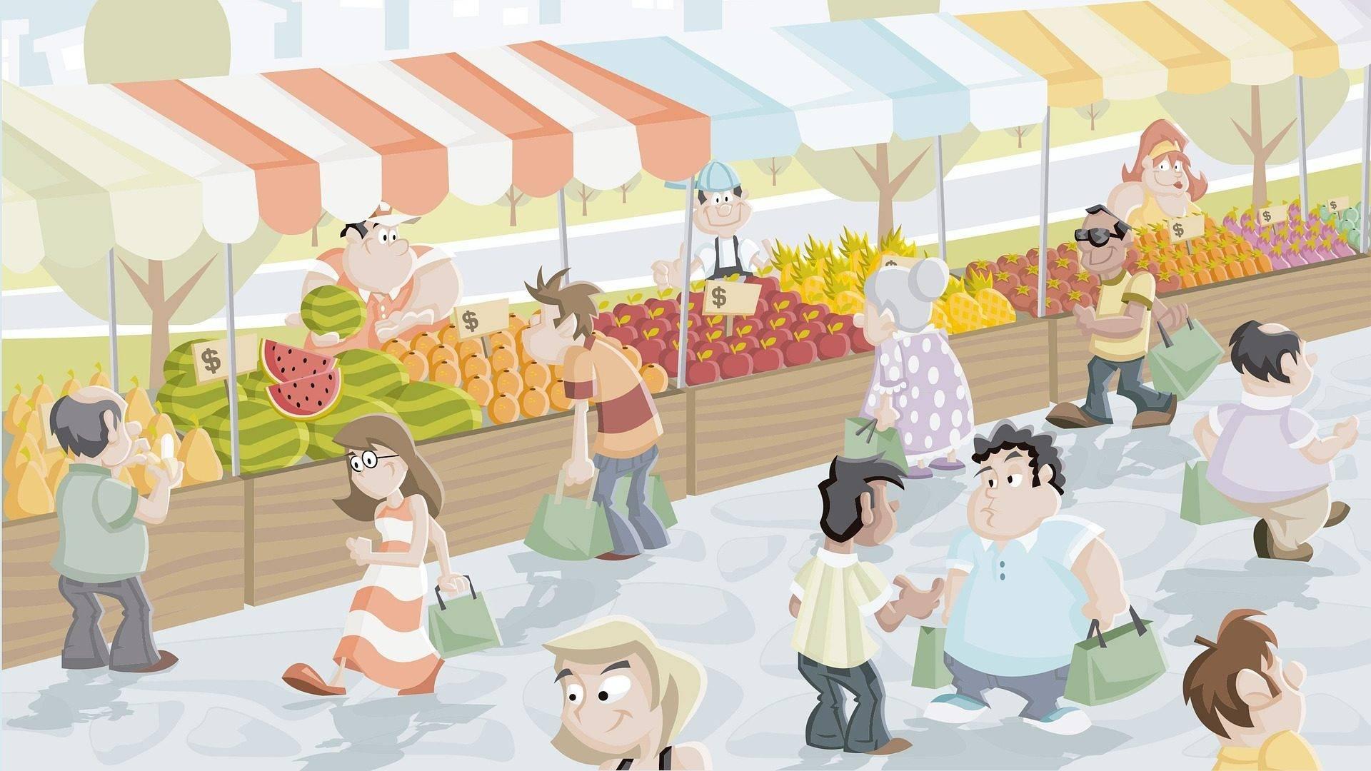 Markt Illustratie