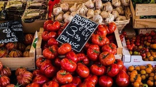 Markt tomaten